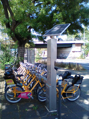 Solar power at a bike station - always the perfect solution with SOLARA solar panels!