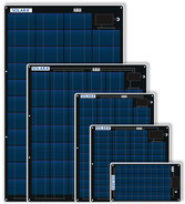 Solar modules, EXTREMELY FLAT, ACCESSIBLE AND SEMIFLEXIBLE,, sea and salt water resistant Teflon surface, extremely resistant protective film on the front and back. Glued or screwed particularly flat. Cable outlet with strain relief cell protector