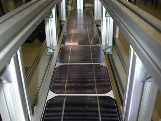 Solar modules production in Germany for solar panels of various sizes, voltages (volts), currents (amps), power (watts) and applications.
