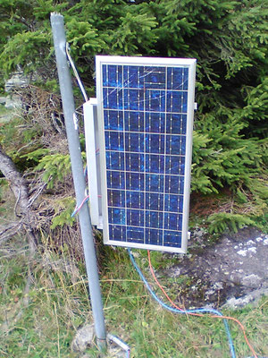 Solar system in the mountains for an electric pasture fence SOLARA solar power the reliable power supply even in the mountains!