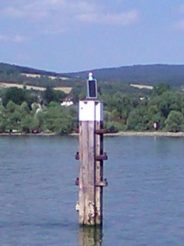Solar modules for a marine sign on the Rhine - Always reliable electricity with SOLARA solar panels!