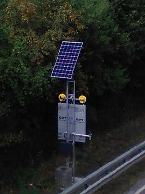 Highway sign for traffic management with solar system - SOLARA solar power for reliable power supply in remote areas!