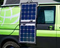 Mobile solar modules, light, flexible, clippable for mobile power supply. Ideal for campers, motorhomes & vans. Mobile solar modules in your pocket with 100 watts for 12V batteries in VW Bus, Vito, Viano, Ducato, Fiat, Carfter and Mercedes. Passed tests!