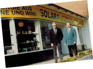 Founders and Managing Directors of SOLARA - Energy from Sun and Wind - Hans Jacobs and Thomas Rudolph