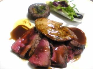 北海道産牛フィレ肉とフォアグラのグリルサルサカルネ