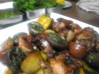野菜のオーブン焼きジェノバ風