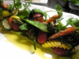 自家栽培の野菜のグリル