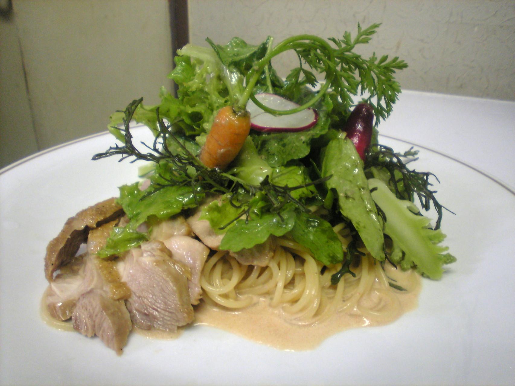 北海道千歳産鶏の冷製スパゲッティ
