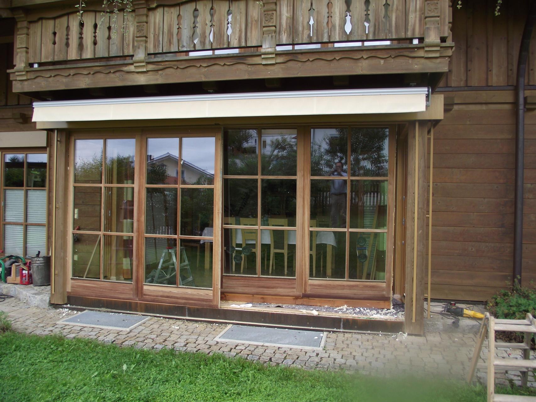 Fenstertür-Schiebe-Element vorher