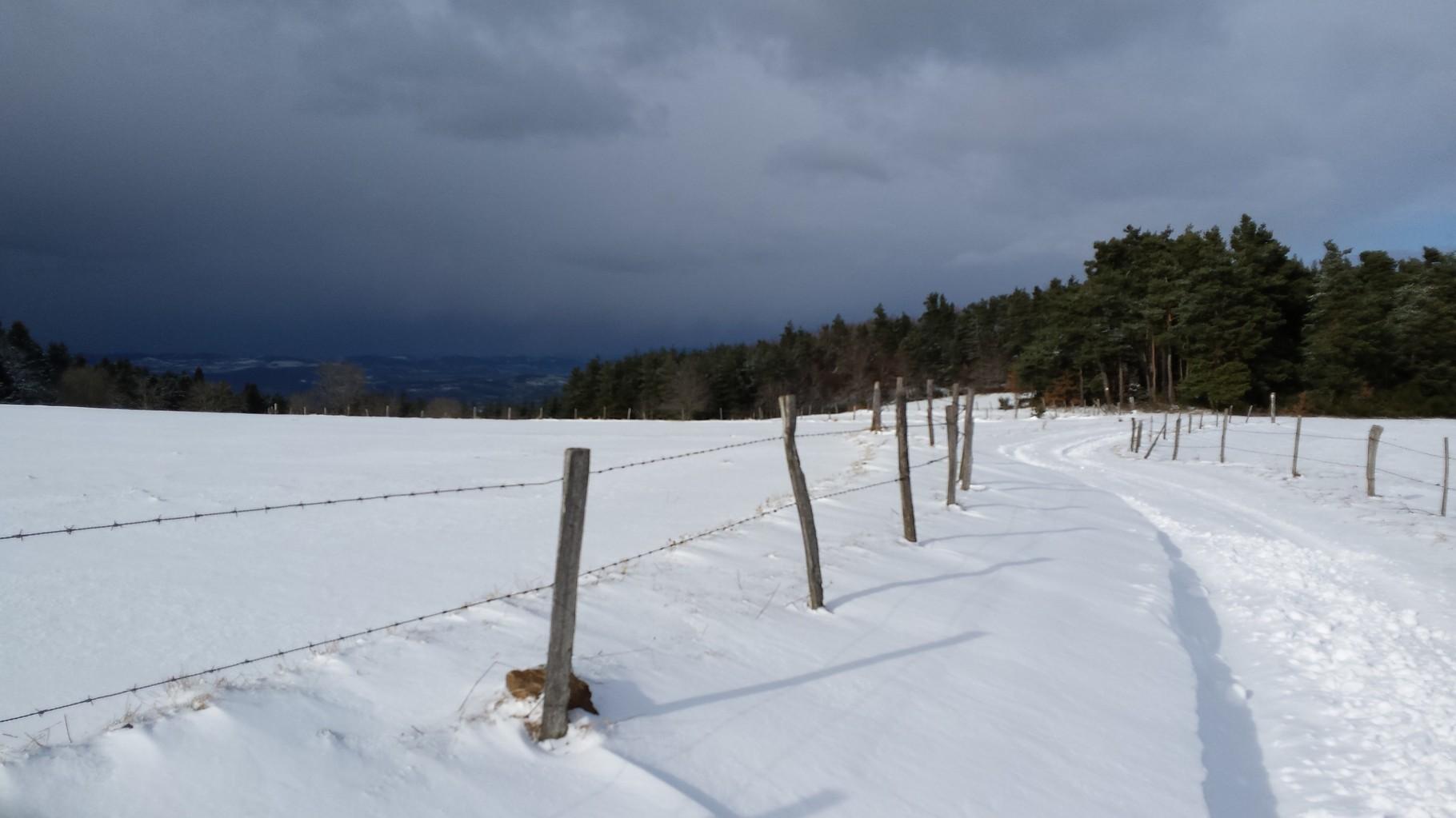 Un Chemin enneigé La Margeride Saugues