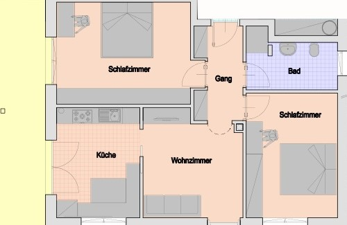 appartamento Ida pianta