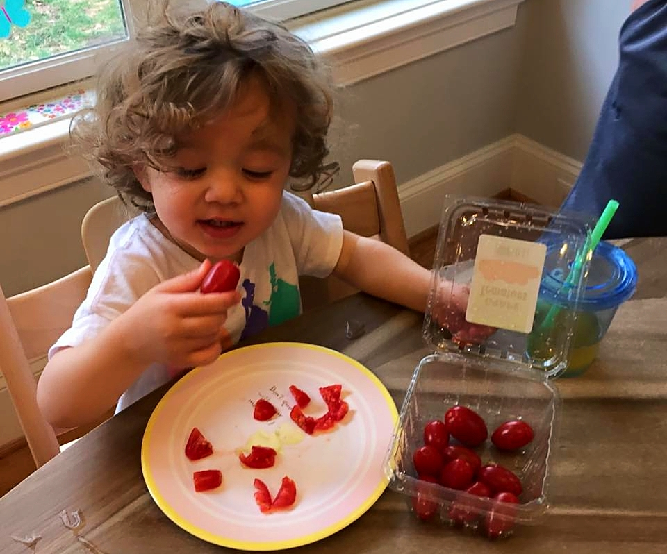 Aris' daughter Diana, Pete's granddaughter, LOVES her Patricia Brand grape tomatoes