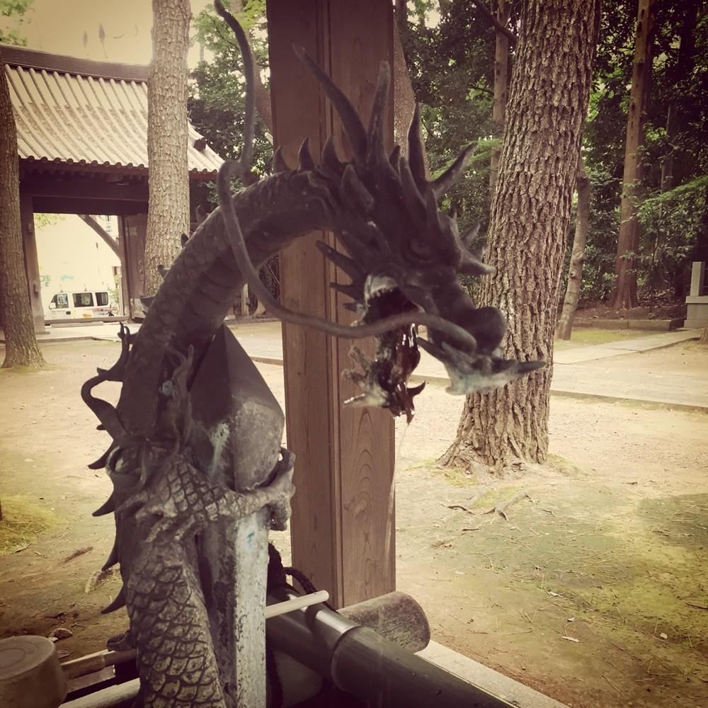 Dragon water faucet at Senryuji Temple Tokyo Komae