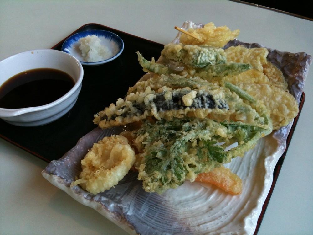 Vegetable Tempura at Hanagaki restaurant Tokyo Akiruno