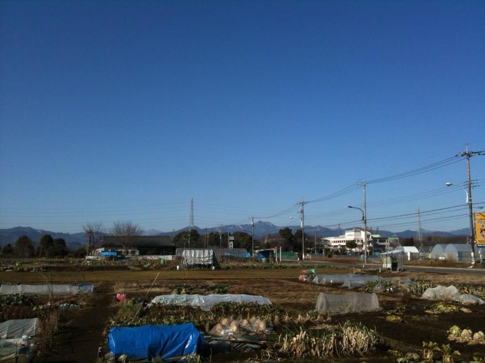 Mountain view from Akigawa Farmers Center Tokyo Akiruno