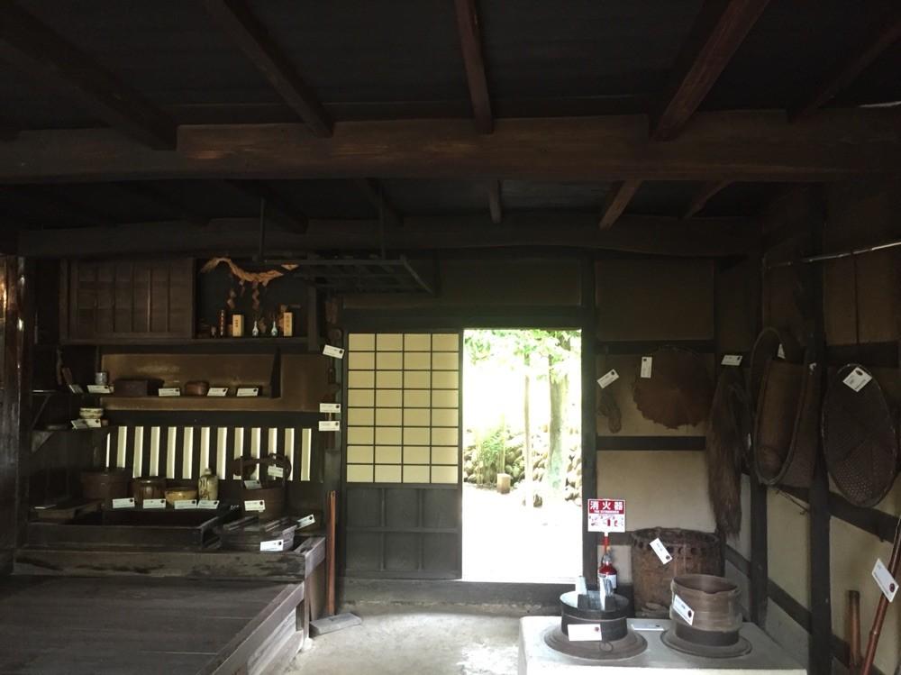 Inside of Old Shimoda Family House Tokyo Hamura