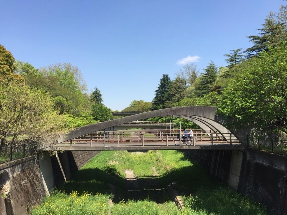 Zanbori River at Showakinen Park Tokyo Tachikawa