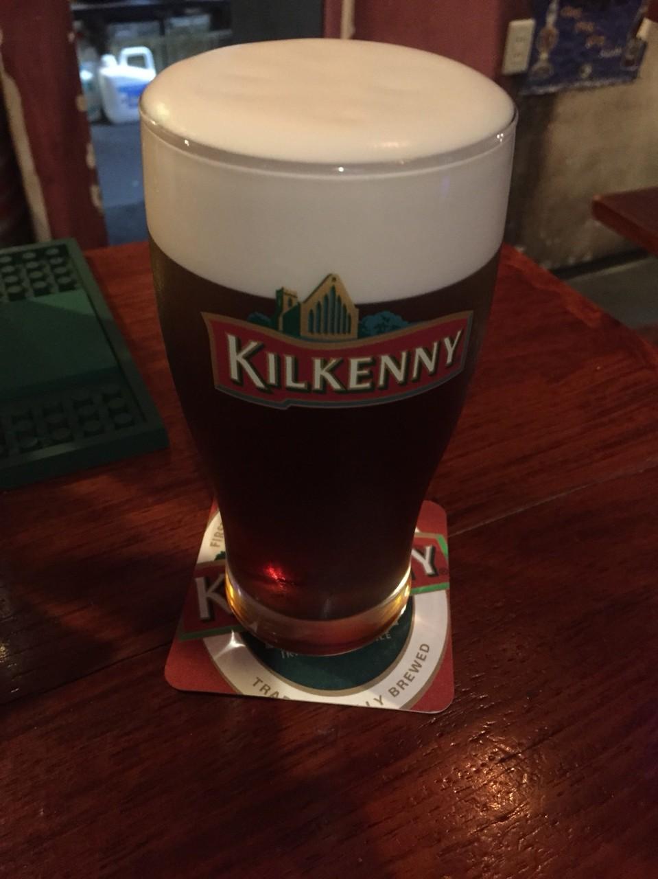 Kilkenny beer at Country Clare Irish Pub Tokyo Tachikawa