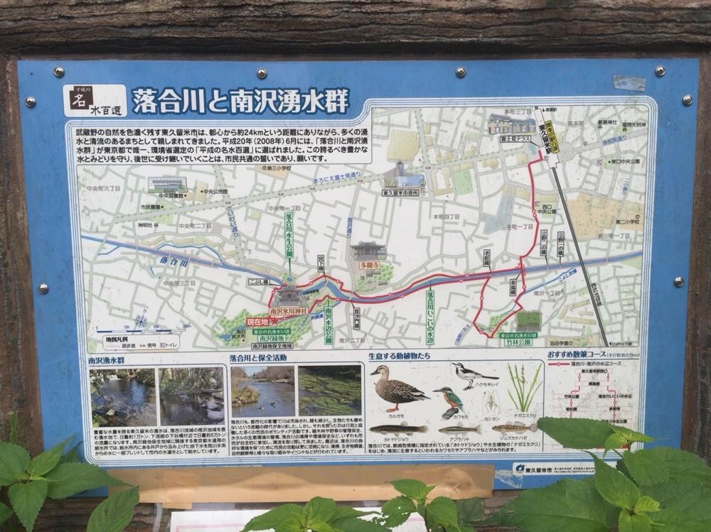 Guide map of Minamisawa Natural water spring group Tokyo Higashikurume