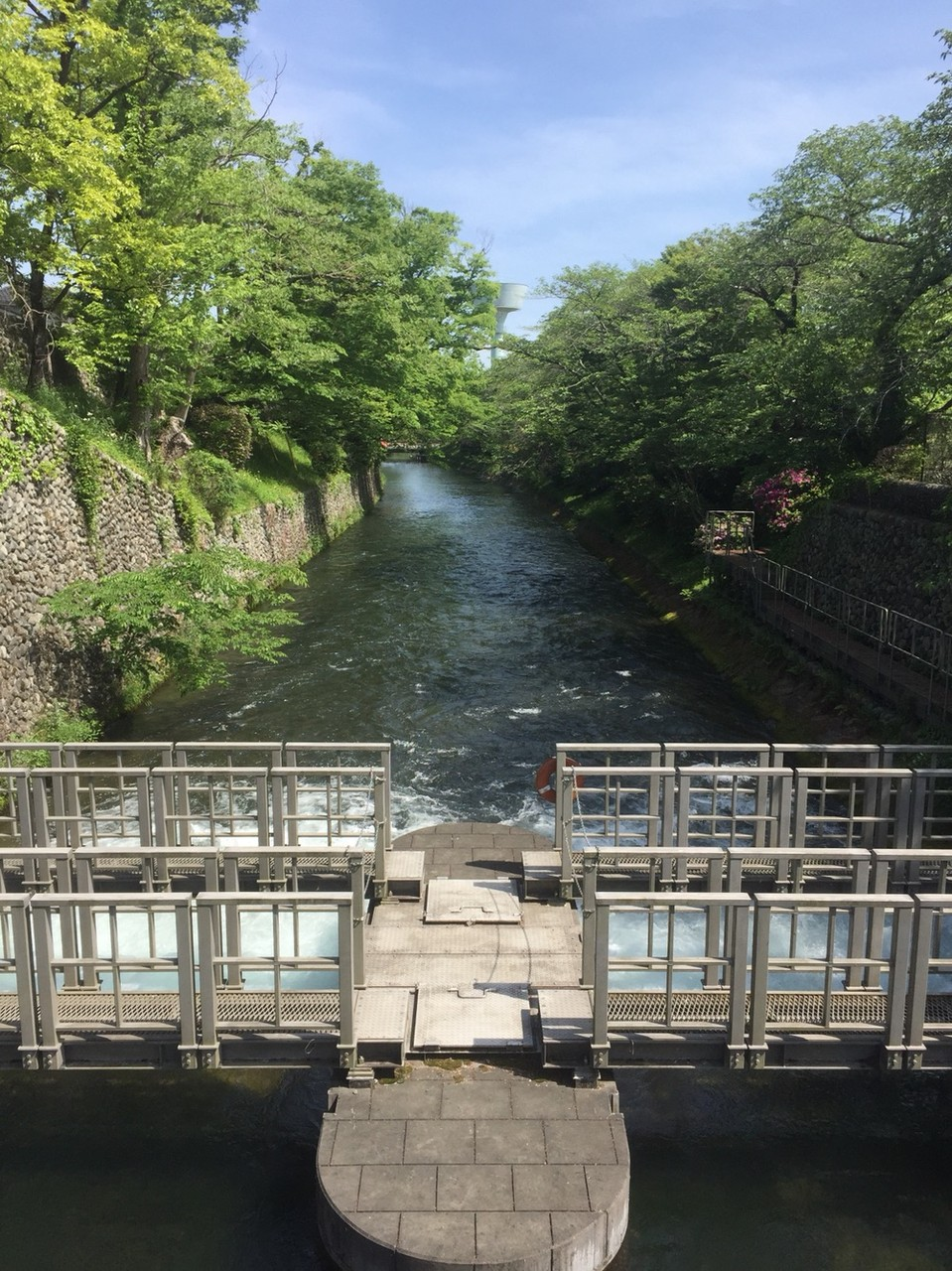 Tamagawajosui River starting point from Hamura Syusuiseki Tokyo Hamura