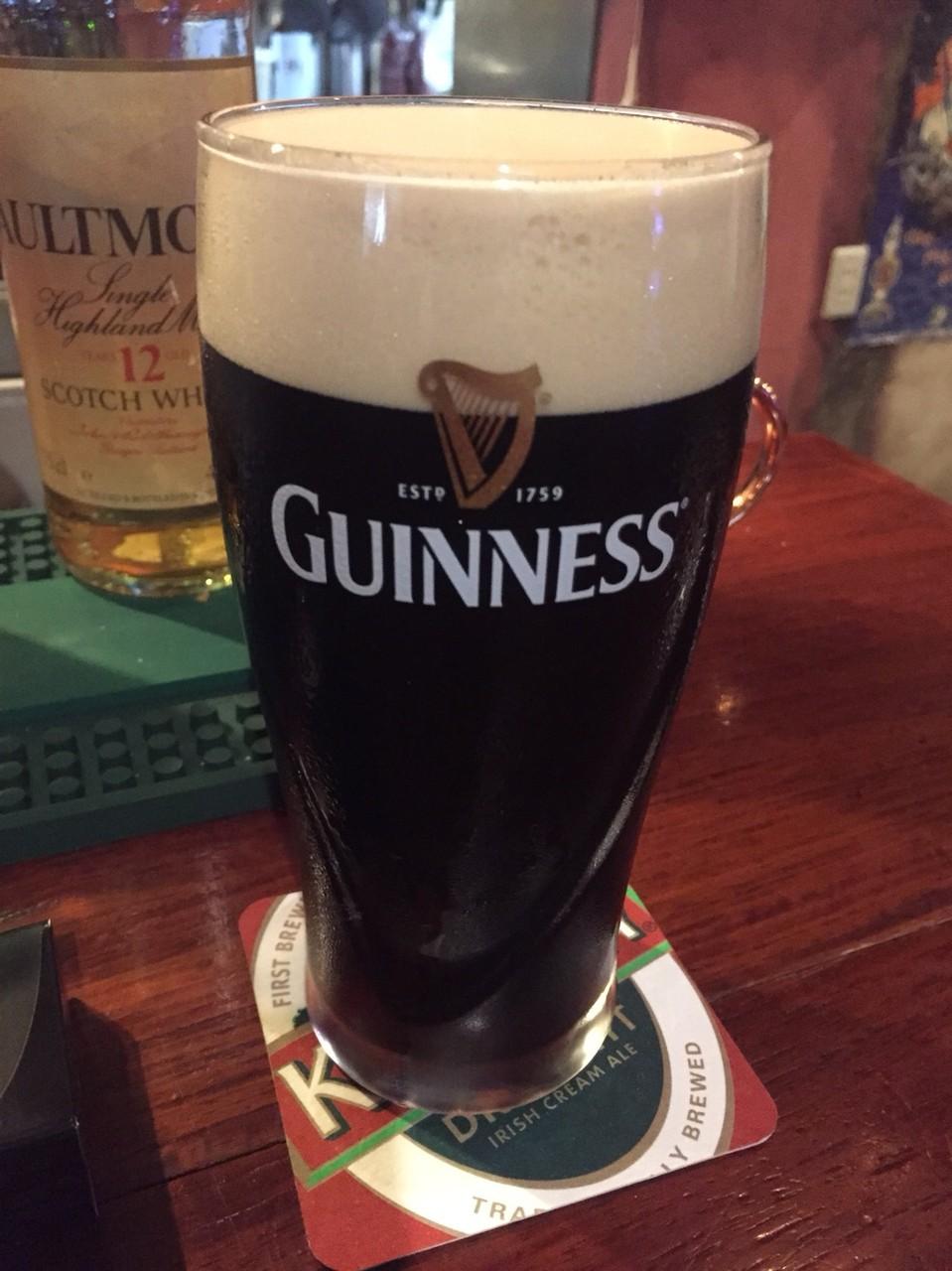 Guiness beer at Country Clare Irish Pub Tokyo Tachikawa