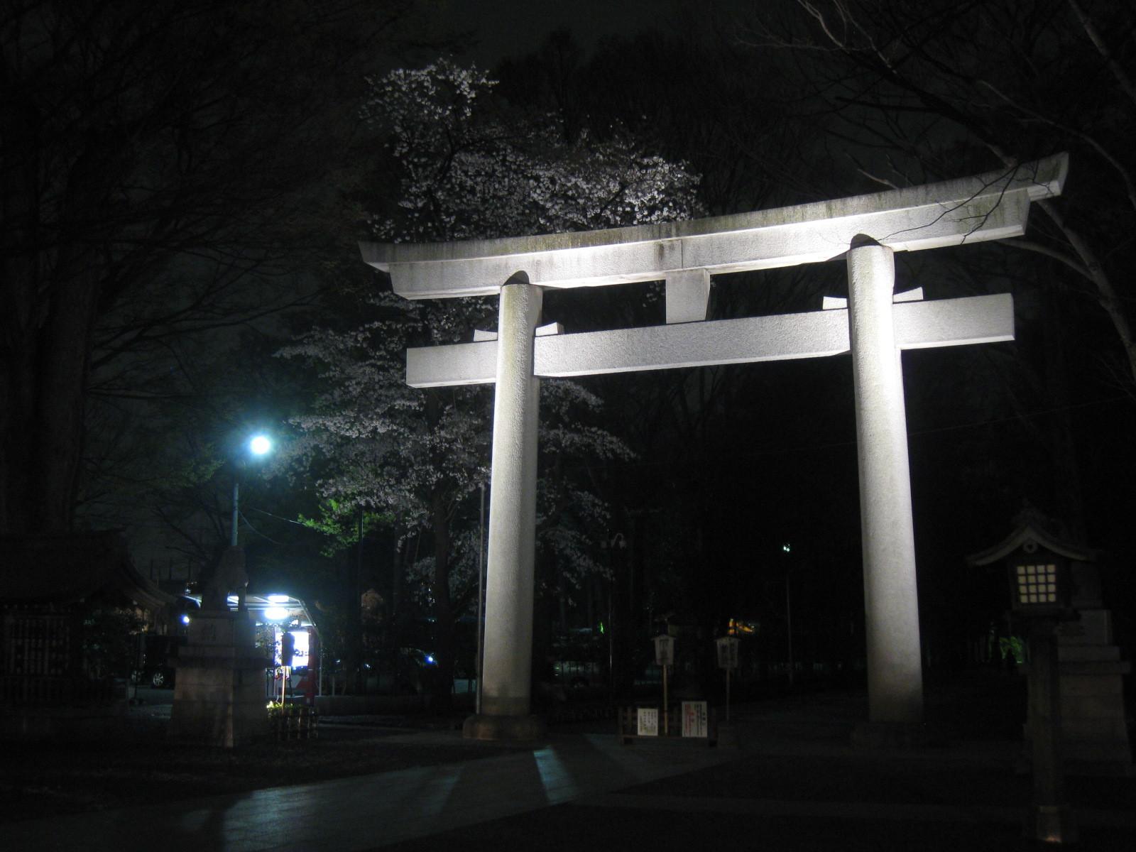 Okunitama Shrine in April Tokyo Fuchu