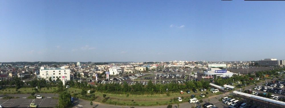 Panorama View from Aeon Mall Musashimurayama Tokyo Musashimurayama
