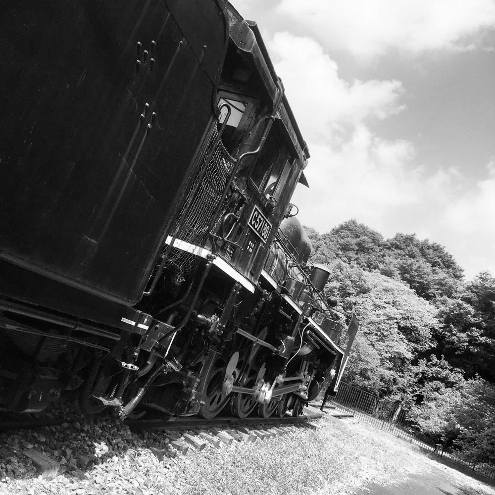 SL C57 (black & white version) at Koganei Park Tokyo Koganei