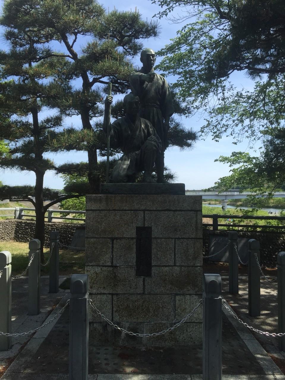 Statue of Tamagawa brothers Hamura Syusuiseki Tokyo Hamura