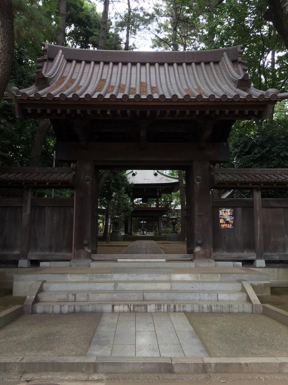 Entrance of Senryuji Temple Tokyo Komae