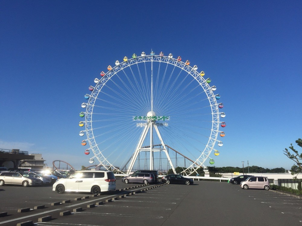 Ferris wheel of Yomiuriland from Okanoyu Spa Tokyo Inagi