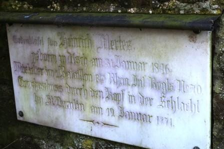 Gedenktafel Heinrich Mertes, wer auch immer das war