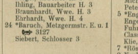 Adressbuch der Stadt Kassel Klosterstraße   (Jahr  1908)