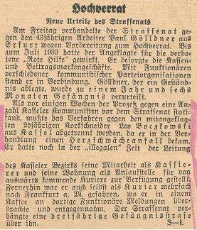 Kasseler Post vom 23.4.1934