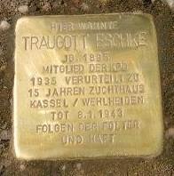 Erster Stolperstein in Kassel: Verlegt für Traugott Eschke in 2011