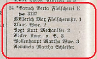 Adressbuch Klosterstraße 24  (1933)