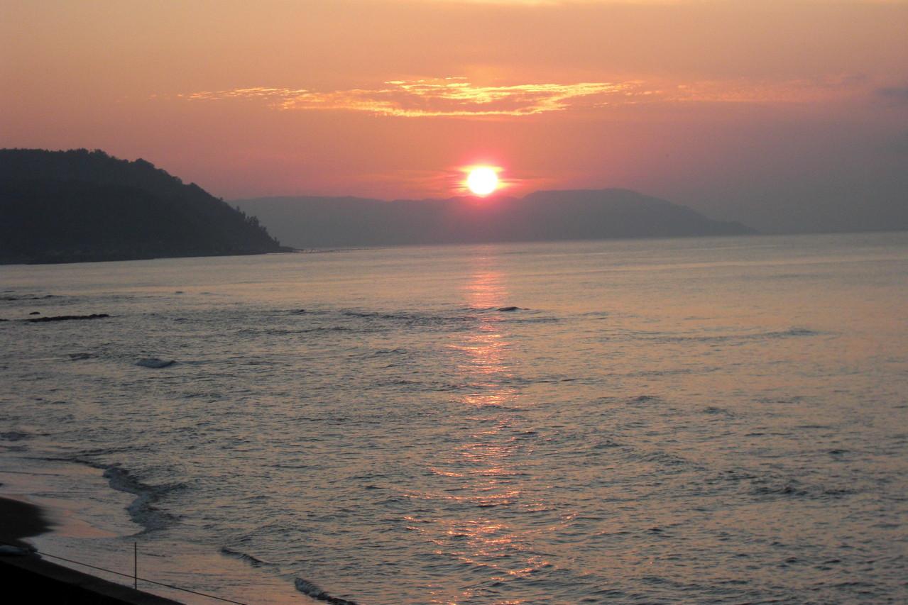 デッキから見る夕日