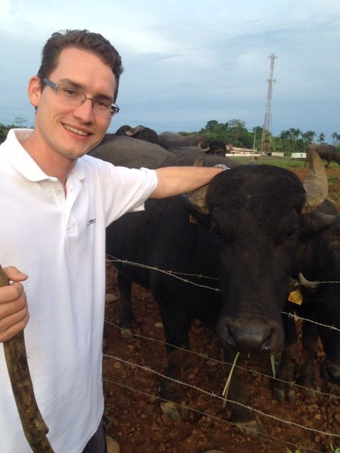 Michael and his Buffalo - www.enjoying-costarica.com