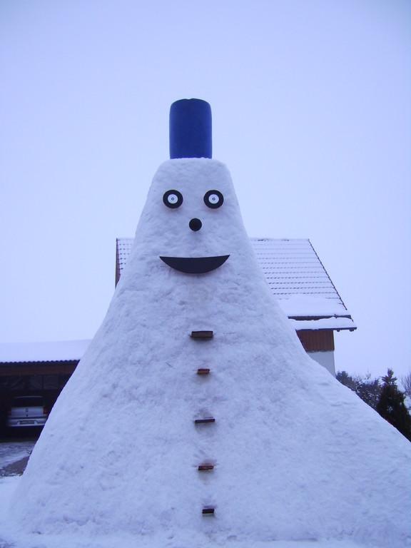 Das bin ich Schneemann Nr.4 mein erster Tag 22.02.09
