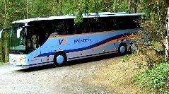 Reisebusse willkommen. Kostenloses Essen + Getränk für den Busfahrer bei einer Reisegruppe über 20 Personen