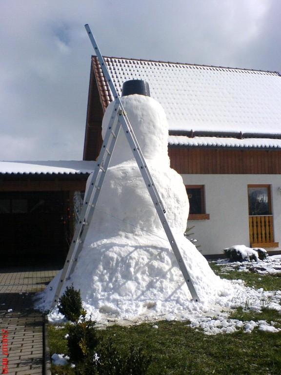 Und das muss ich doch gleich nutzten, für einen neuen Schneemann
