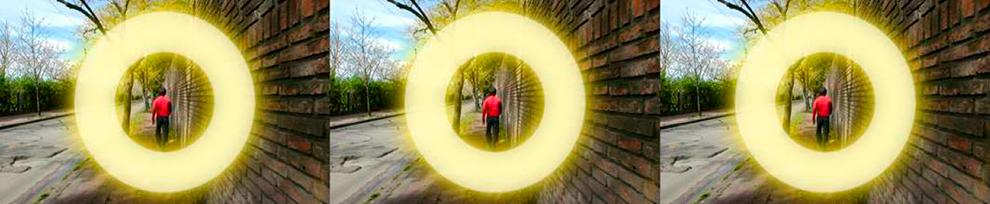 """Serie Circular. """"Falso movimiento #1"""". 99 x 20,4 cm. Fotografía. 2005/06"""