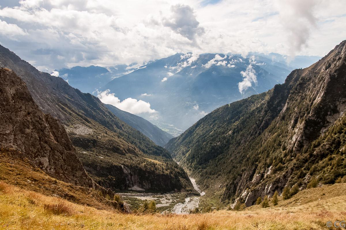 La Valle Galinera vista da Passo Galinera