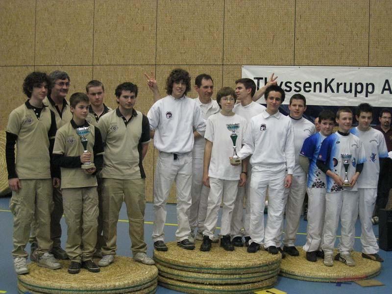 Notre équipe jeunes championne de Bretagne 2008