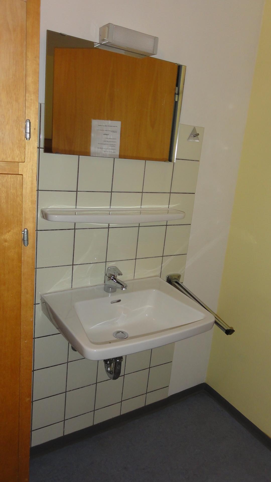 Waschbecken im 4er Zimmer Erdgeschoss