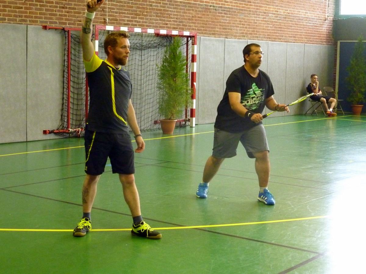 Nicolas et Henrique ...raquette haute s'il vous plait!