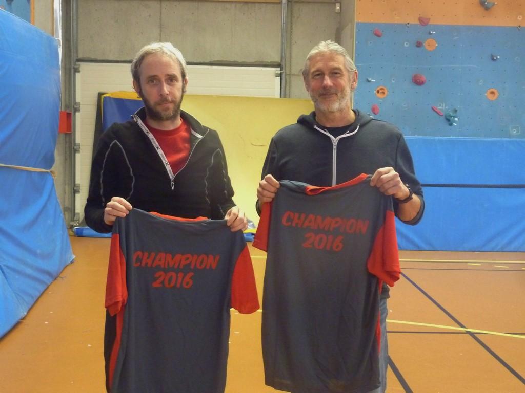 Nicolas (Caen) et Marc, les champions en V1-V2