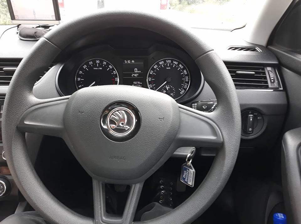 Driving the Skoda
