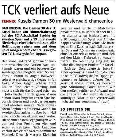 Quelle: Verlag: DIE RHEINPFALZ Publikation: Westricher Rundschau Ausgabe: Nr.116 Datum: Samstag, den 19. Mai 2012 Seite: Nr.17