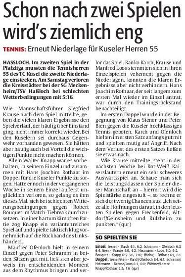 Die Rheinpfalz - Westricher Rundschau - Nr. 109 Montag, den 12. Mai 2014, Seite 19